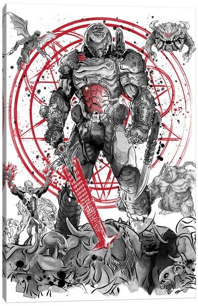 The Hell Walker Canvas Art Print
