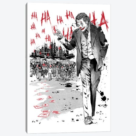 Lone Comedian And Cubs Canvas Print #ACM77} by Antonio Camarena Canvas Artwork