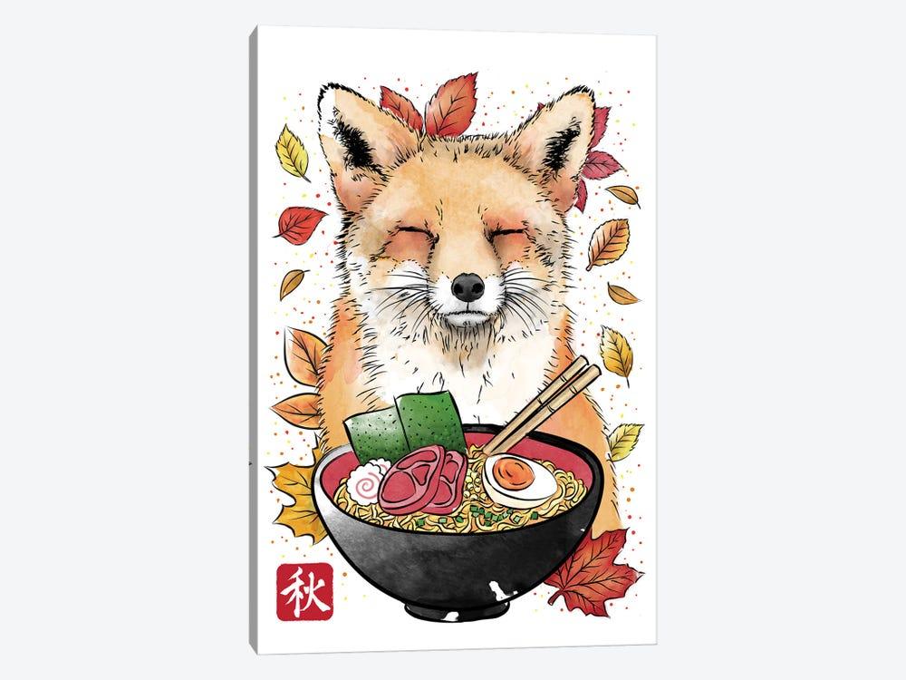 Fox, Leaves And Ramen by Antonio Camarena 1-piece Canvas Artwork