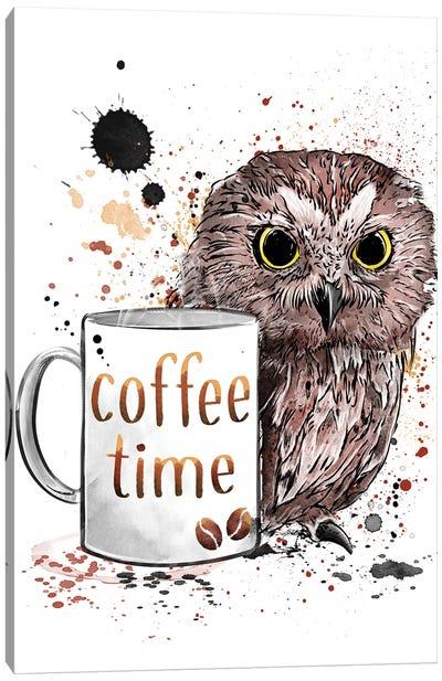 Coffee Time Canvas Art Print