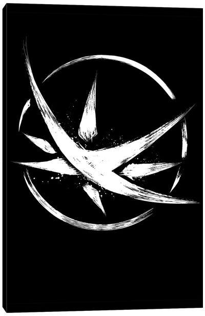 The Obsidian Star Symbol Canvas Art Print