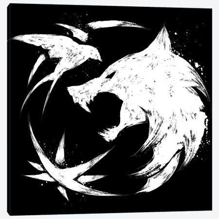 The Witcher Symbol Canvas Print #ACM91} by Antonio Camarena Art Print