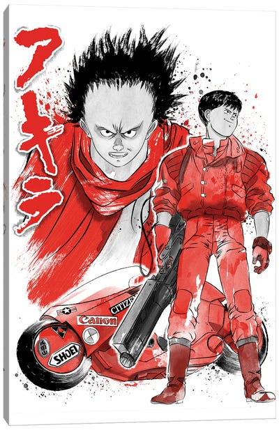 Kaneda And Tetsuo Sumi-E Canvas Art Print