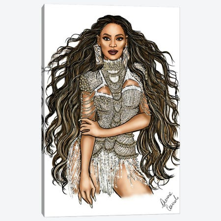 Beyonce Spirit 3-Piece Canvas #ACN10} by AtelierConsolo Canvas Wall Art