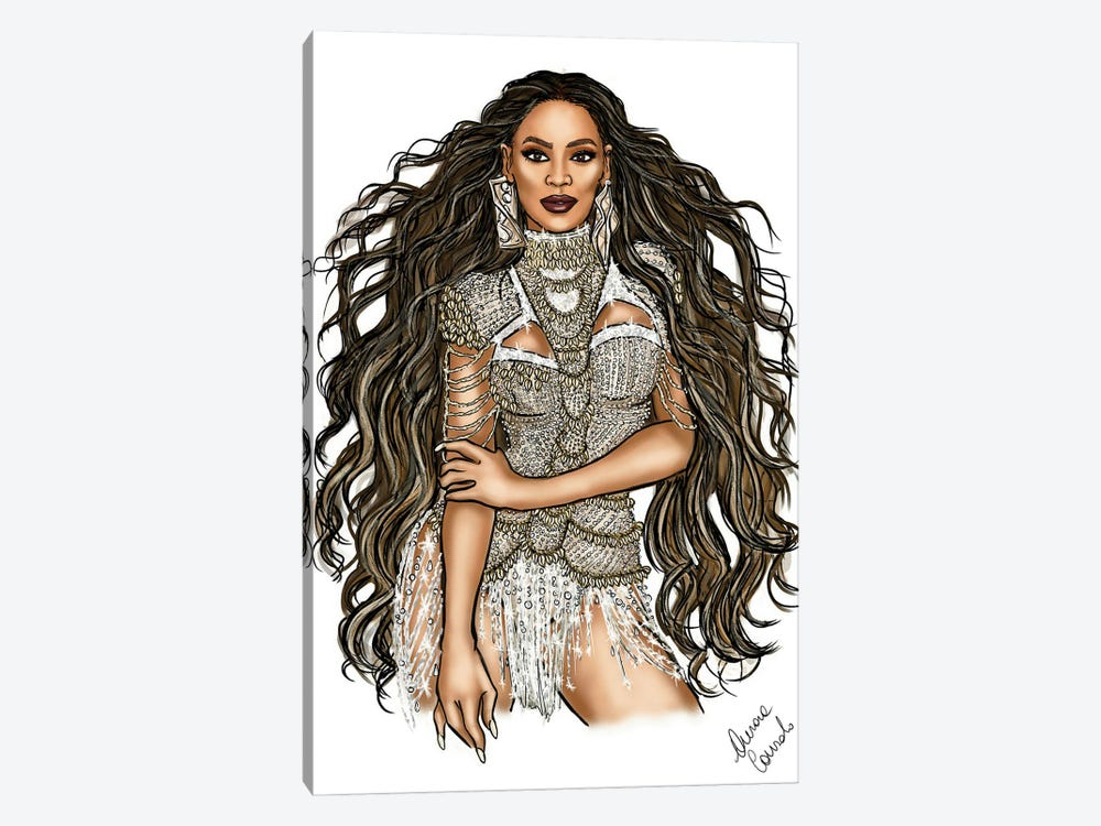 Beyonce Spirit by AtelierConsolo 1-piece Canvas Wall Art