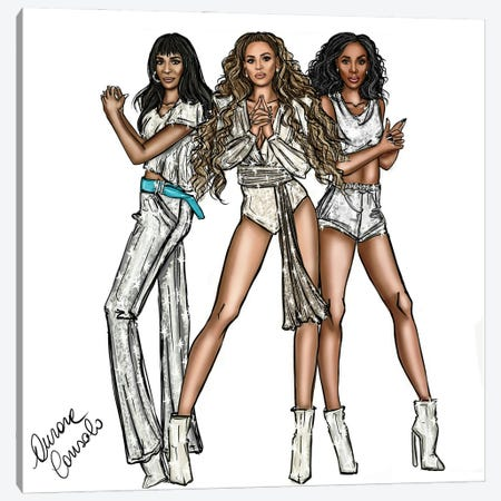 Destiny's Child 3-Piece Canvas #ACN14} by AtelierConsolo Canvas Print