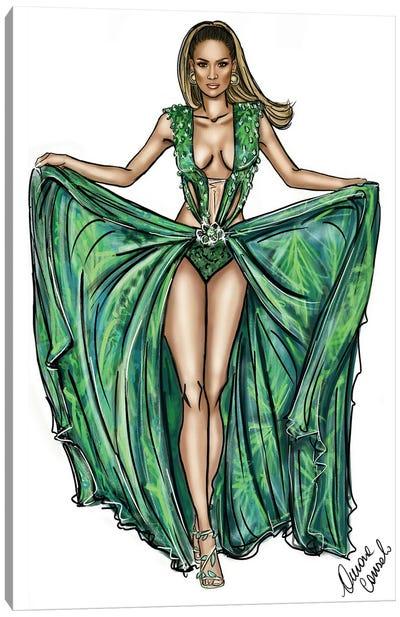 J Lo Versace Canvas Art Print