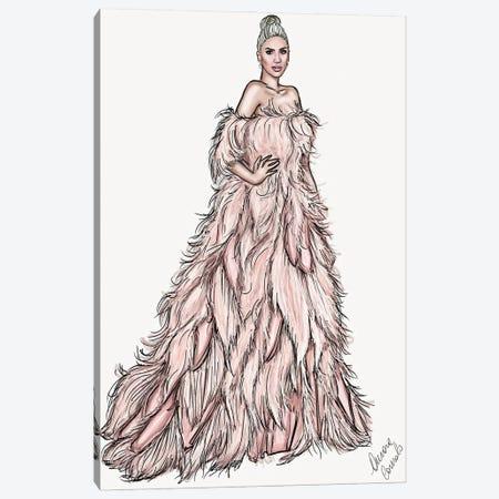 Lady Gaga Canvas Print #ACN17} by AtelierConsolo Art Print