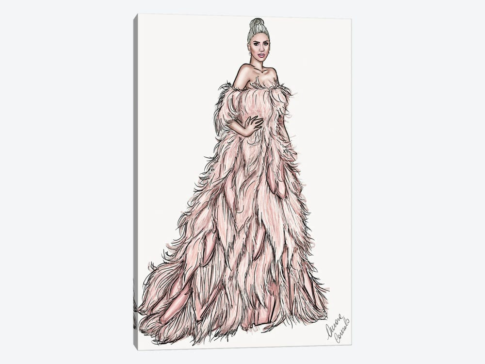 Lady Gaga by AtelierConsolo 1-piece Canvas Print