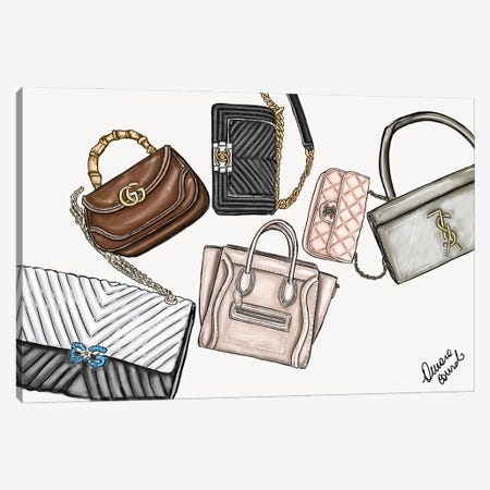 Original Bags Canvas Print #ACN23} by AtelierConsolo Canvas Print