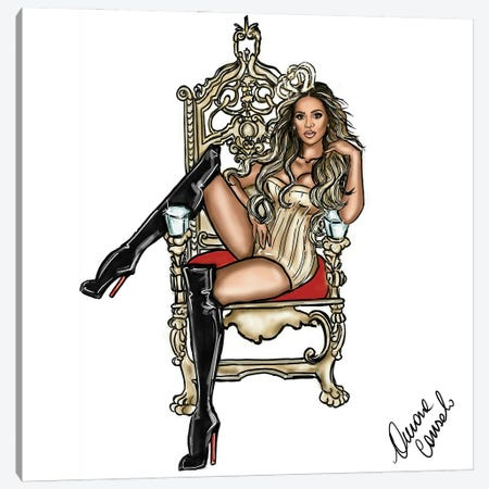 Queen Bey Canvas Print #ACN29} by AtelierConsolo Canvas Print