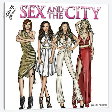 SATC Canvas Print #ACN32} by AtelierConsolo Canvas Wall Art