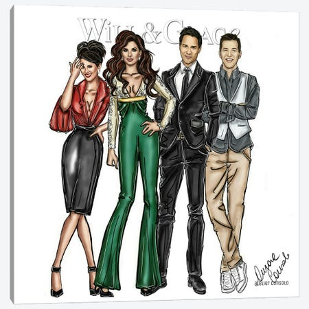 Will And Grace Canvas Print #ACN37} by AtelierConsolo Art Print