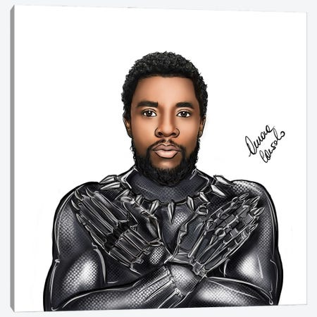 T'Challa Canvas Print #ACN60} by AtelierConsolo Canvas Print
