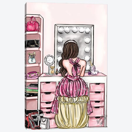 Beauty Routine Canvas Print #ACN69} by AtelierConsolo Art Print