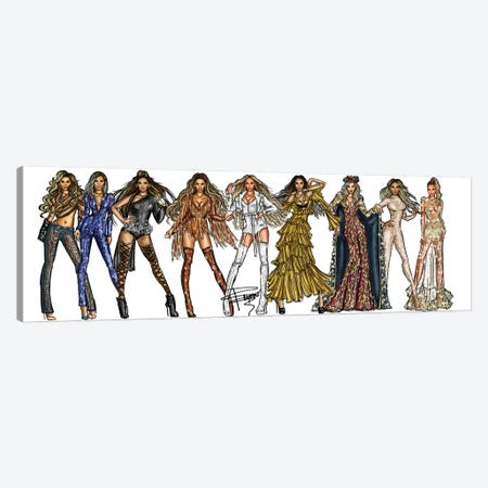 Beyonce Carrier Canvas Print #ACN9} by AtelierConsolo Canvas Print