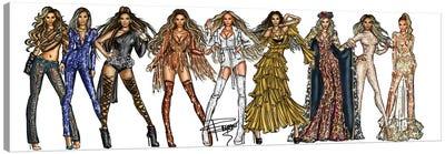 Beyonce Carrier Canvas Art Print