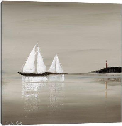 Sailing Grey I Canvas Art Print