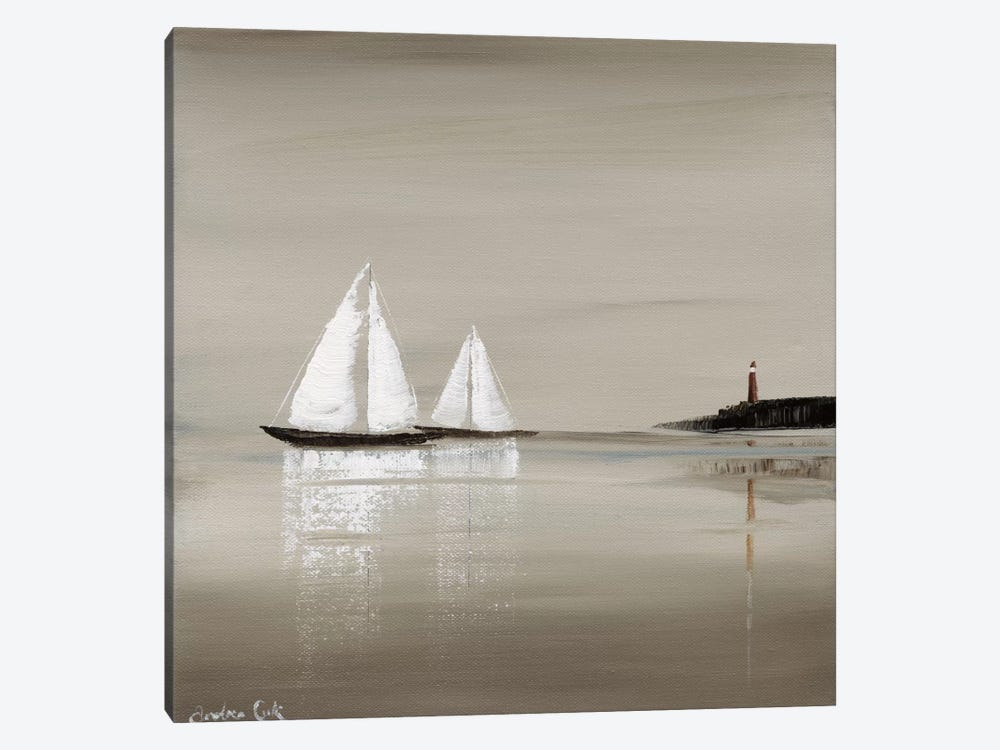 Sailing Grey I by Andrea Cook 1-piece Canvas Print