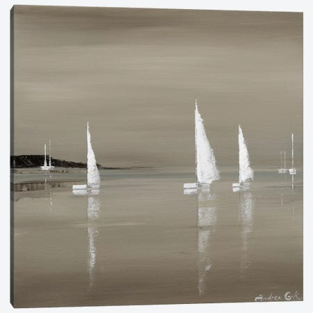 Sailing Grey II Canvas Print #ACO2} by Andrea Cook Canvas Wall Art