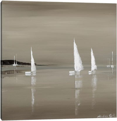 Sailing Grey II Canvas Art Print