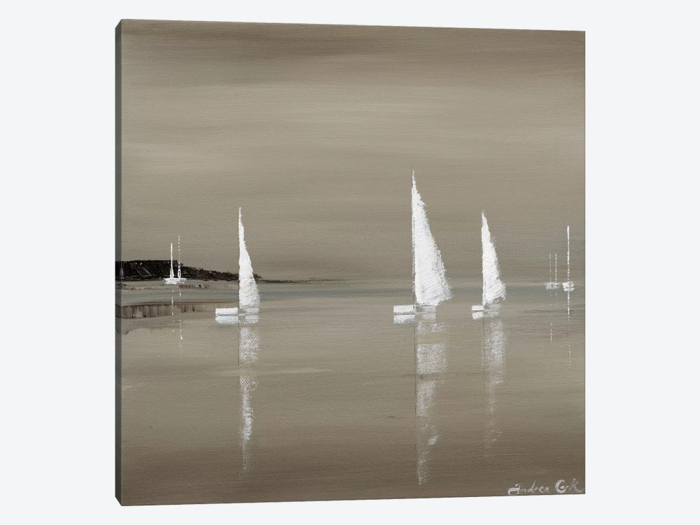 Sailing Grey II 1-piece Canvas Art