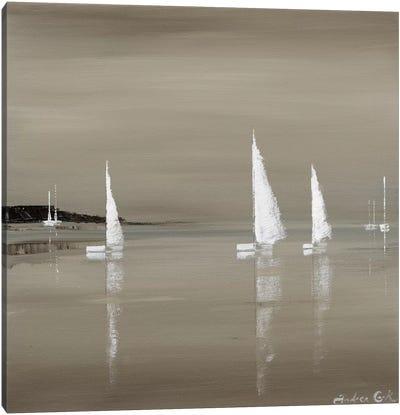 Sailing Grey II Canvas Art Print