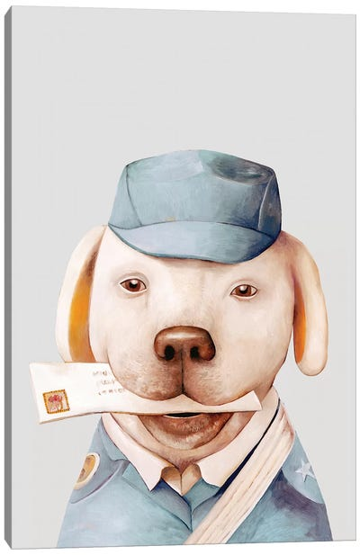 Delivery Dog Canvas Art Print