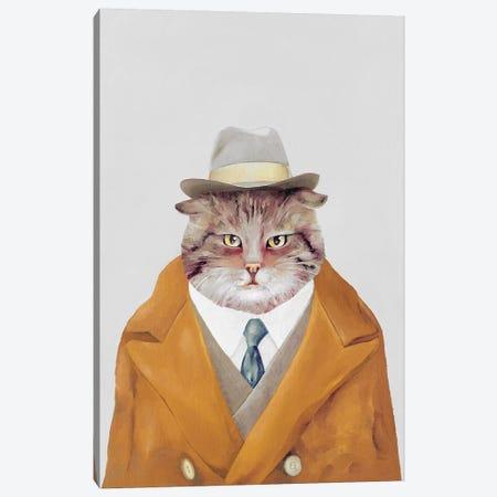 Detective Cat Canvas Print #ACR12} by Animal Crew Canvas Art