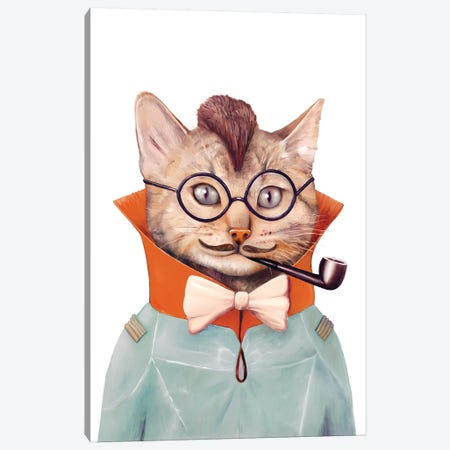 Eclectic Cat Canvas Print #ACR14} by Animal Crew Canvas Art Print