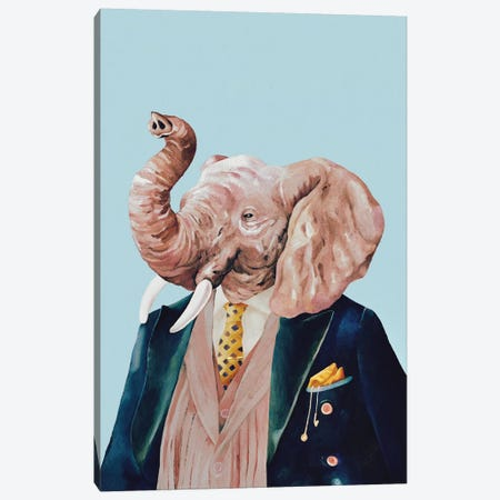 Elephant Canvas Print #ACR15} by Animal Crew Canvas Print