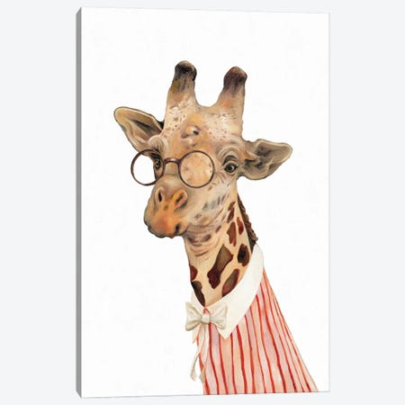 Giraffe Canvas Print #ACR18} by Animal Crew Canvas Art