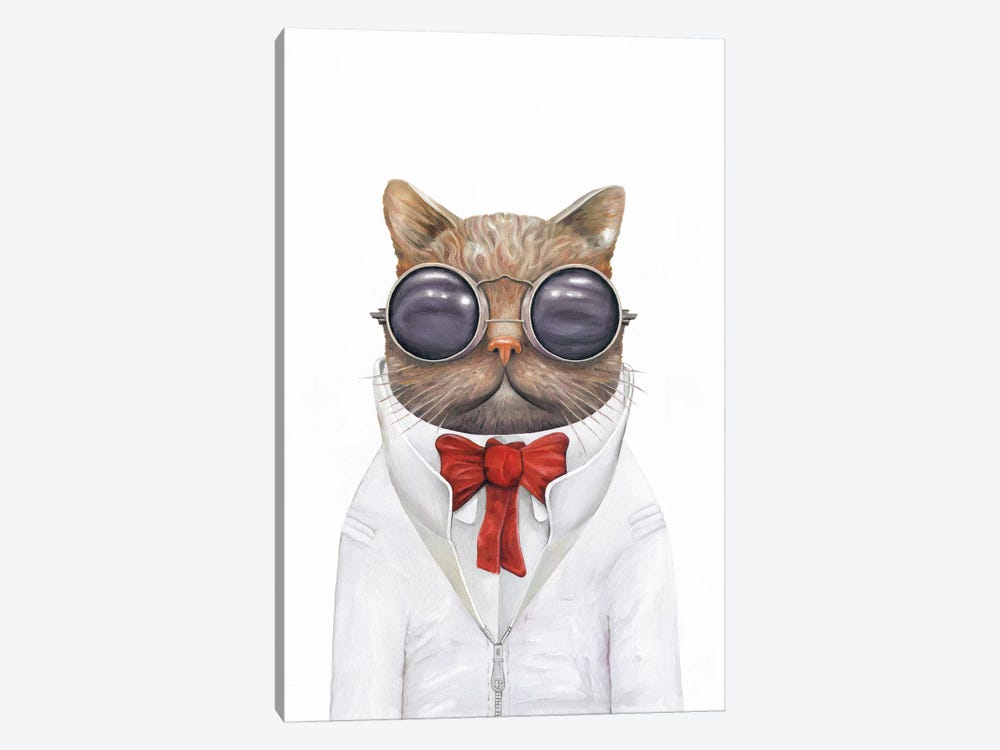 Astro Cat by Animal Crew 1-piece Canvas Wall Art