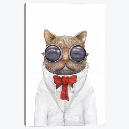 Astro Cat Canvas Print #ACR1} by Animal Crew Canvas Artwork
