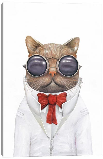 Astro Cat Canvas Art Print