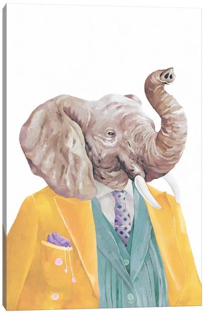 Golden Coated Elephant Canvas Art Print