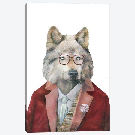 Grey Wolf Canvas Print #ACR22} by Animal Crew Canvas Print