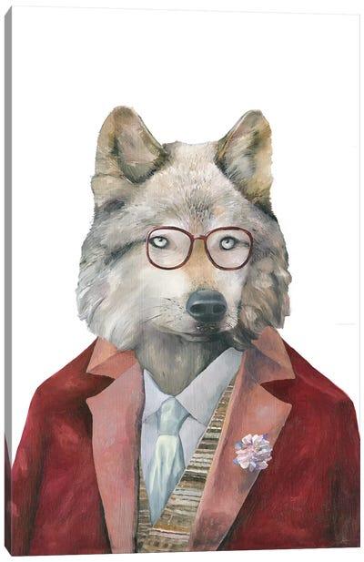 Grey Wolf Canvas Art Print