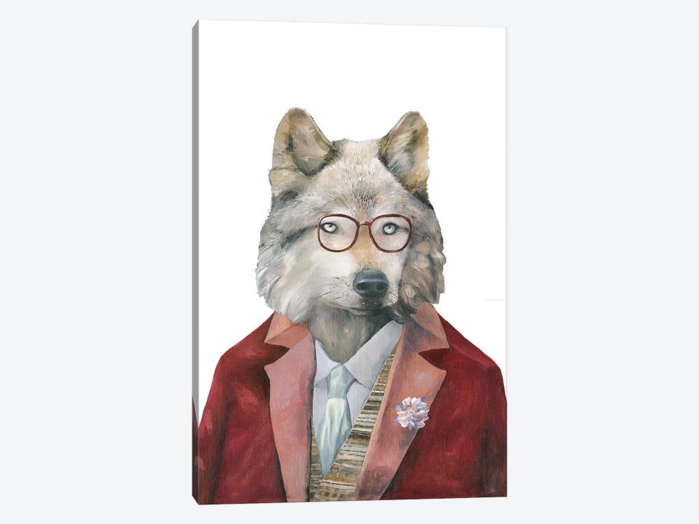 Grey Wolf by Animal Crew 1-piece Canvas Wall Art