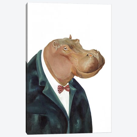 Hippopotamus Canvas Print #ACR24} by Animal Crew Canvas Art