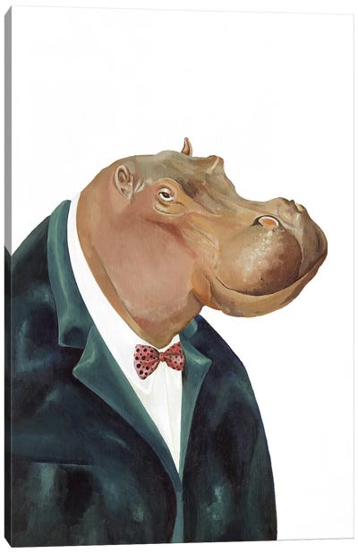 Hippopotamus Canvas Art Print