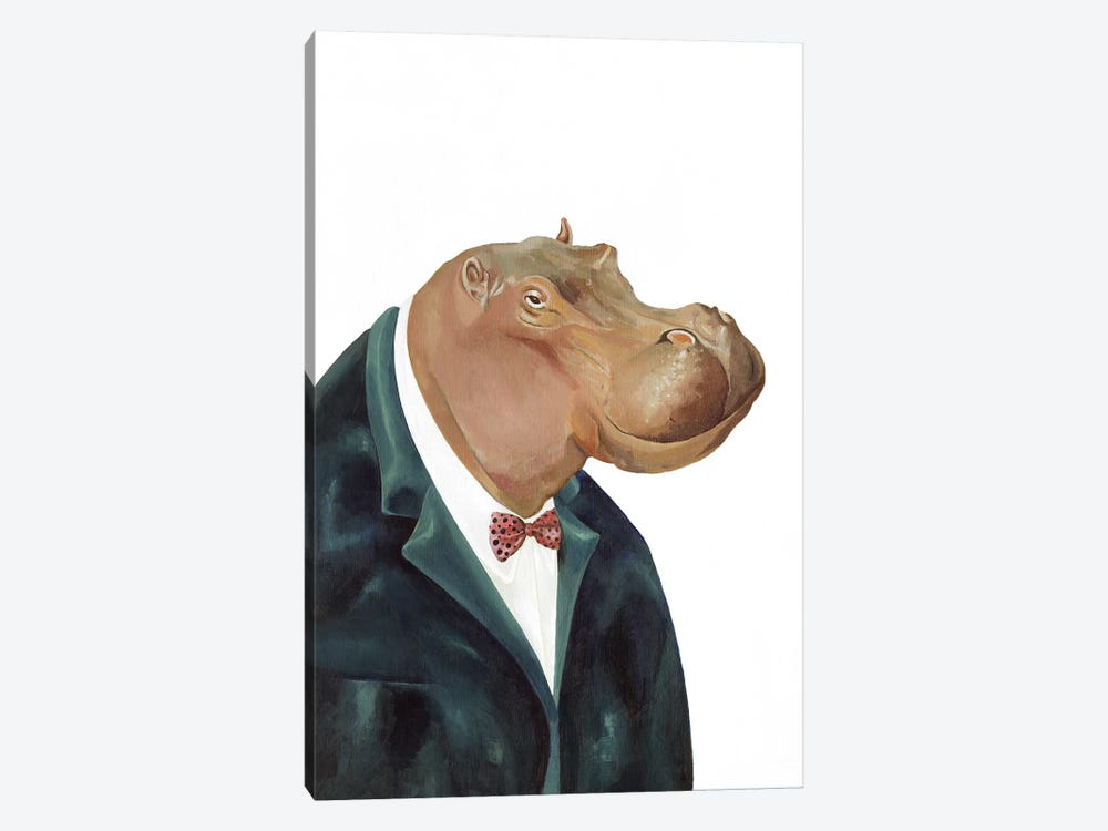 Hippopotamus by Animal Crew 1-piece Canvas Artwork