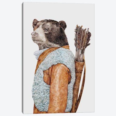 Hunter Bear Canvas Print #ACR25} by Animal Crew Canvas Artwork