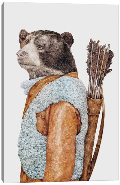 Hunter Bear Canvas Art Print