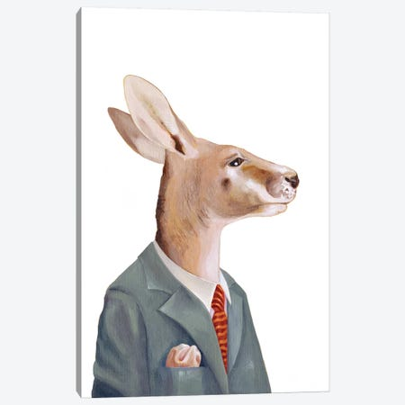 Kangaroo Canvas Print #ACR26} by Animal Crew Canvas Art