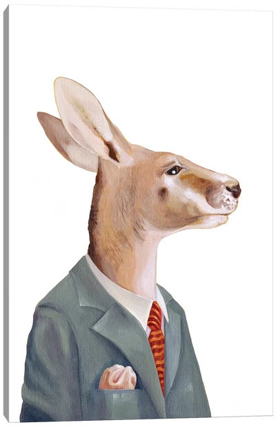 Kangaroo Canvas Art Print