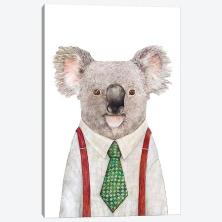 Koala Canvas Print #ACR27} by Animal Crew Canvas Art