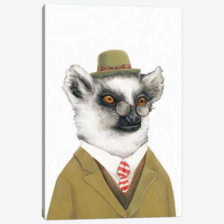 Lemur Canvas Print #ACR29} by Animal Crew Art Print