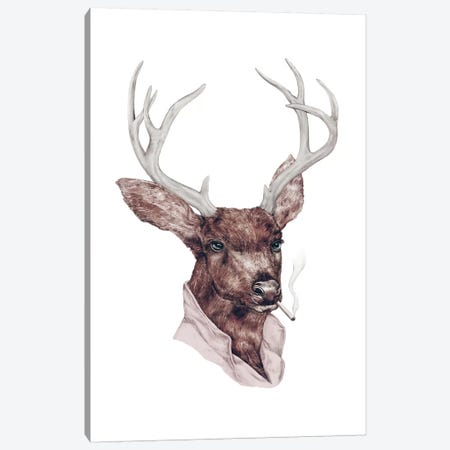 Bad Buck Canvas Print #ACR2} by Animal Crew Canvas Art