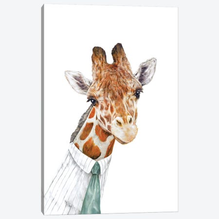 Mr Giraffe Canvas Print #ACR35} by Animal Crew Art Print